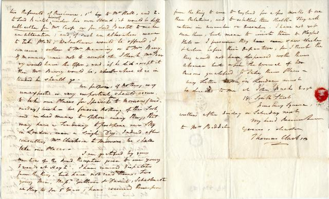 Letter from Thomas Clarkson to Arthur Biddell: London 20 June 1820.