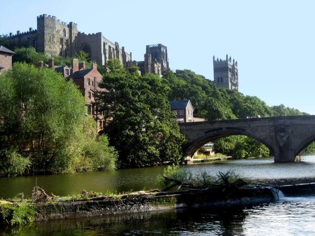 The ancient River wear, flows around the city of Durham.