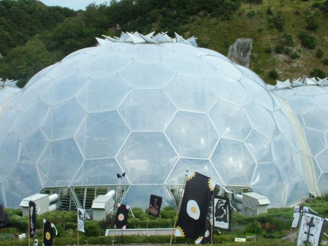 The Eden Project has become known throughout the world since it opened in May 2000. In its first six years around seven million people visited the attraction. It lies just a few miles from the Cornish town of St Austell. 