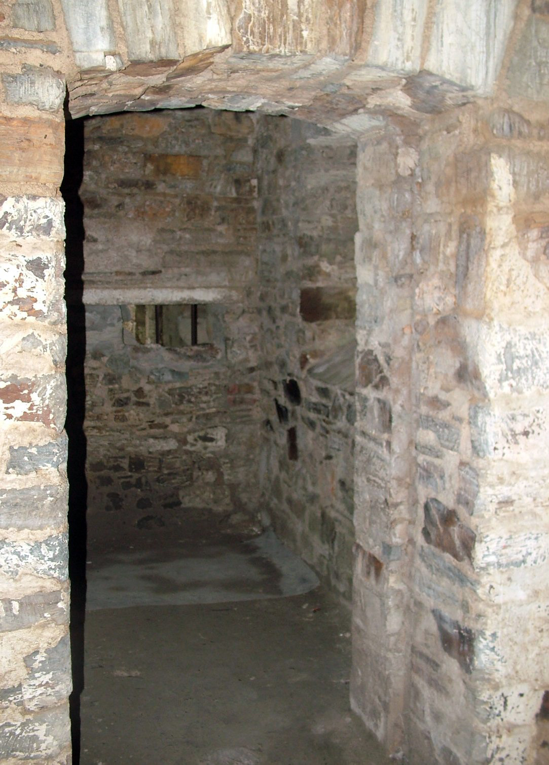 Picture taken at Bodmin Gaol. The former County Prison, was originally built in 1777 and replaced the old Debtor's Prison. The Gaol as it is seen today was largely rebuilt in the 1840's and again in the 1850's each time increasing in size as the population grew. The execution shed would have been us...