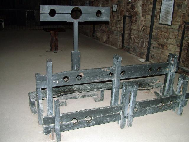 The use of the stocks had largely died out. However they were still used occasionally in some places.