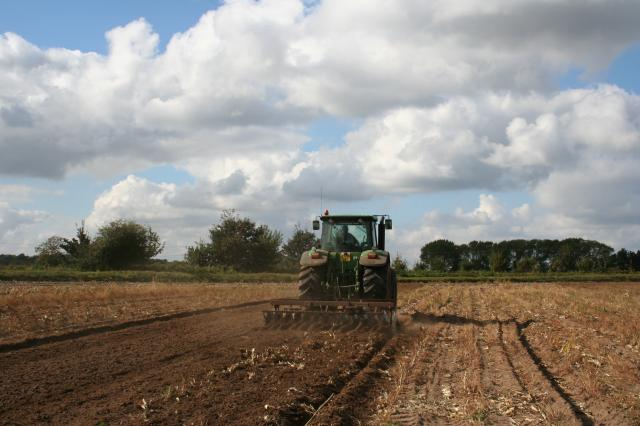 Ploughing at Wantisden, Suffolk.  October 2007