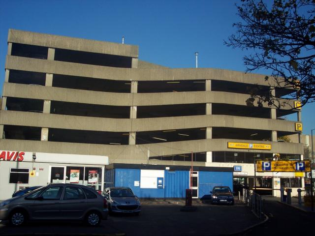 Car park in Nottingham. Picture taken November 2007.