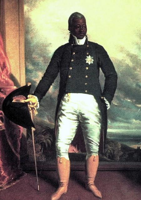 This picture is of the first and only King of Haiti. The enslaved Africans in Haiti, led by  Toussaint l'Ouverture, Jean-Jacques Dessalines and Henry Christophe eventually won their freedom. Toussaint died in a French prison, whilst Dessalines was murdered in 1804. Christophe as commander of the arm...