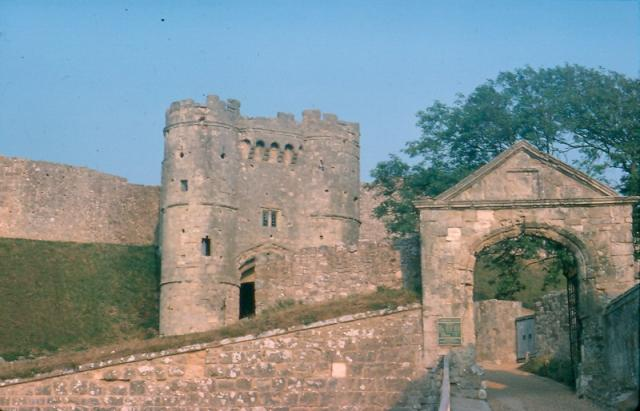Carisbrooke Castle, Isle of Wight. Taken August 1975.