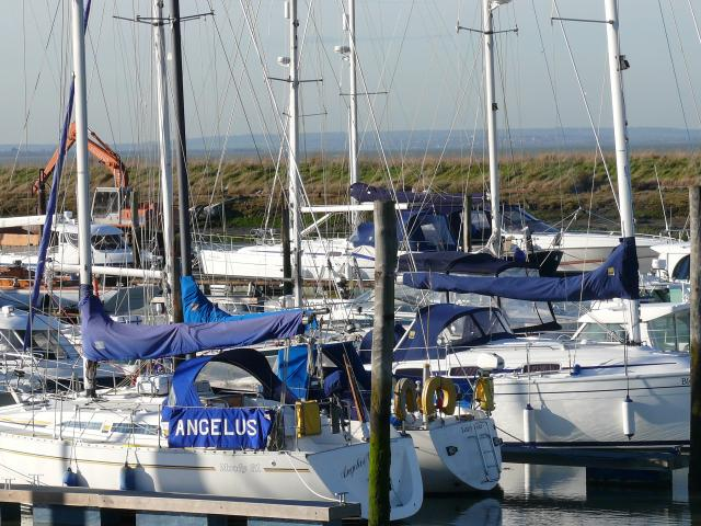 Bradwell marina on the Blackwater estuary.