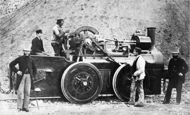 An early steam train used in the chalk quarries, to move wagons from the quarry to the cement factory or wharfs.