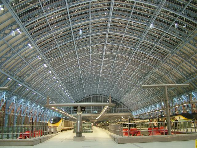 St Pancras railway station is a major railway station opened in 1868 and celebrated for its architecture. During the early years of the 21st century the complex was renovated, expanded and reopened with a new name - St. Pancras International. It now has a security-sealed terminal area for Eurostar t...