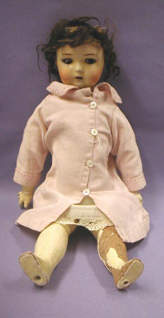 This doll, called Cissy, was made in Harlow around 1910.