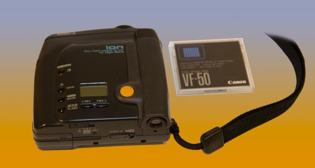Canon Ion Digital Still Video Camera. Released in 1991.