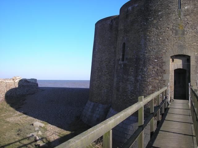 This Martello Tower is one of 103 that were built between 1805 and 1812 to resist the expected invasion by Napoleon. They were built of brick, 13 foot thick on the seaward side, stood about 30 foot high and were equipped with a cannon on the roof