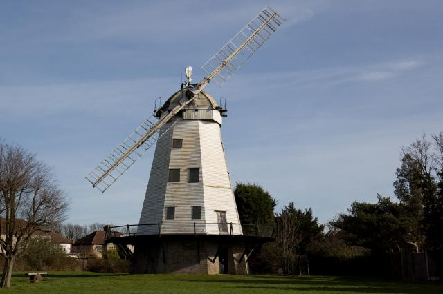 Upminster Windmill. The Windmill suffered storm damage on Thursday 18th January