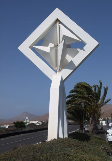 Cesar Manrique (1919 - 1992) lived most of his life in Lanzarote in the Canary Islands. He was a designer, artist, painter, sculptor and architect his work can be seen all over the island and especially on the roundabouts along the main roads. Many of these pieces are mobile sculptures and make use ...