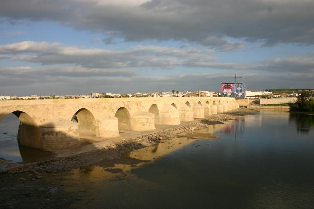 Arched bridge over the Rio Guadalquivir.  The first bridge was built by the Romans, sometimes attributed to Julius Caesar, but was rebuilt on the same foundations by the Moors.