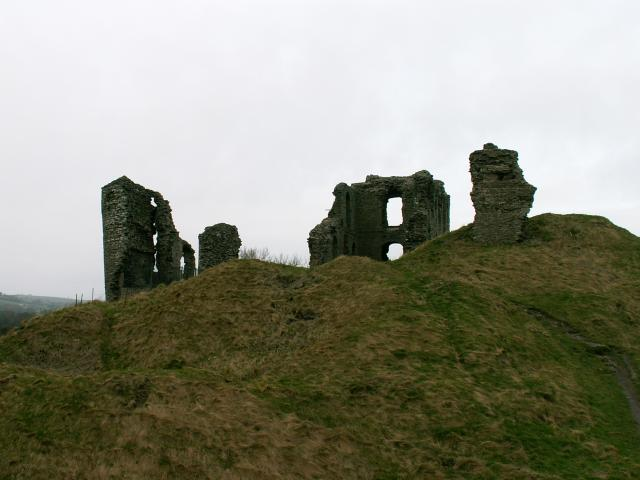 The ruins of the 12th Century castle at Clun in South West Shropshire
