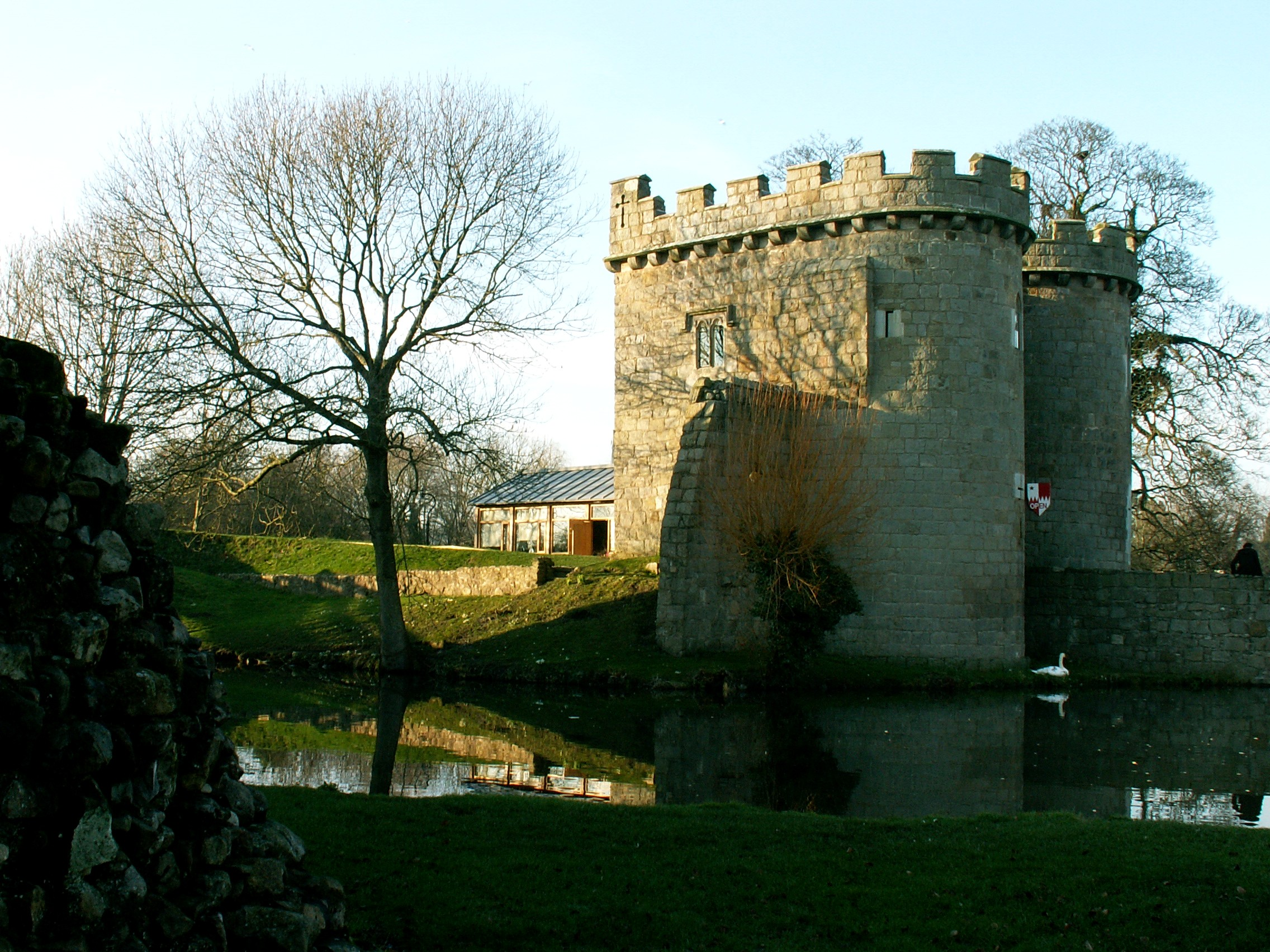 Whittington Castle in the village of Whittington, North Shropshire