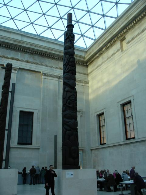 The British Museum in London holds a collection of art and artifacts from ancient and living cultures.  The exhibits span 2 million years of human history.