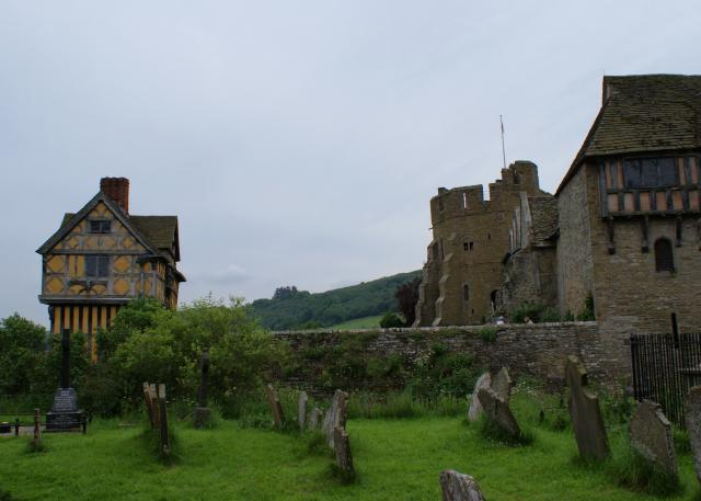 Stokesay Castle, near Craven Arms, Shropshire.