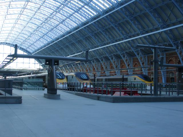 St Pancras station opened it's refurbished train shed to Eurostar trains in November 2007.  It was opened by the Queen.