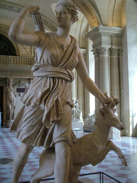 Artemis and Apollo Statue - Pics about space