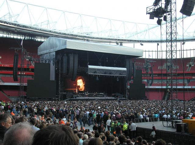 Bruce Springsteen & The E Street Band played two huge sell-out shows at The Emirates Stadium, the home of Arsenal Football Club, on May 30th & 31st 2008.