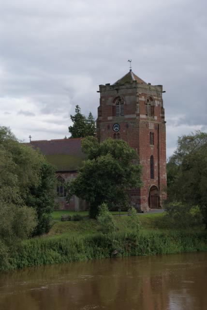 Church of St Eata, Atcham, Shropshire on the banks of the River Severn.