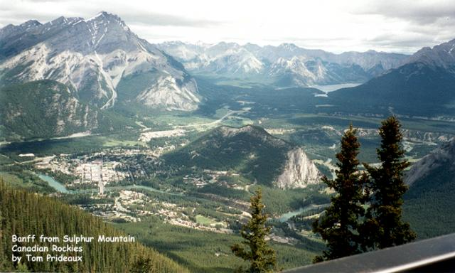 Banff from Sulphur Mountain, Canadian Rockies