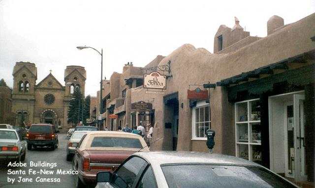 Adobe buildings, Santa Fe, New Mexico
