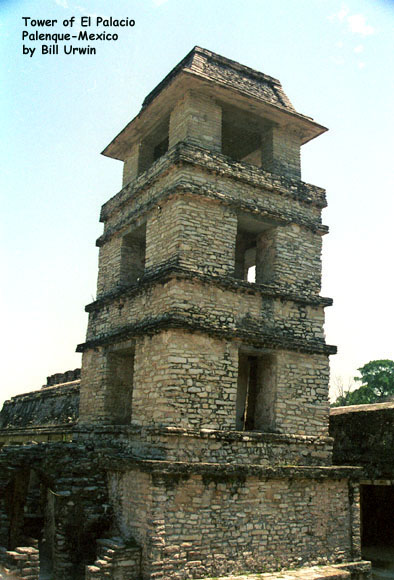 Tower of El Palacio, Palenque (city built by the Maya)