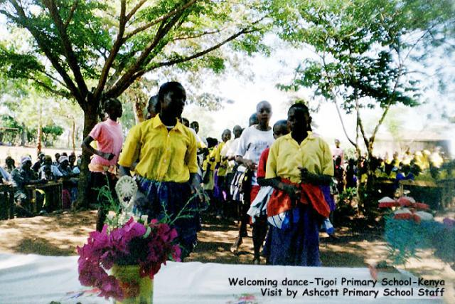 Welcoming dance, Tigoi Primary School, Kenya