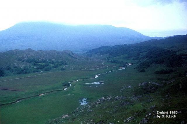 River valley and mountains, Ireland, 1965