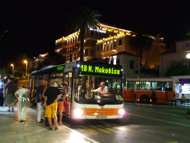 The busy bus stop outside Dubrovnik Old Town's east entrance, Pile Gate.
