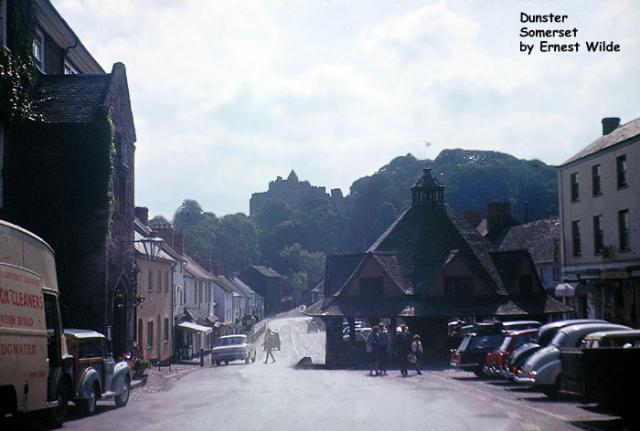 Village of Dunster Castle on Hill