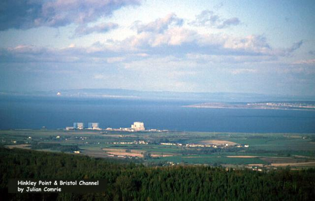 Hinkley Point on the edge of Bristol Channel