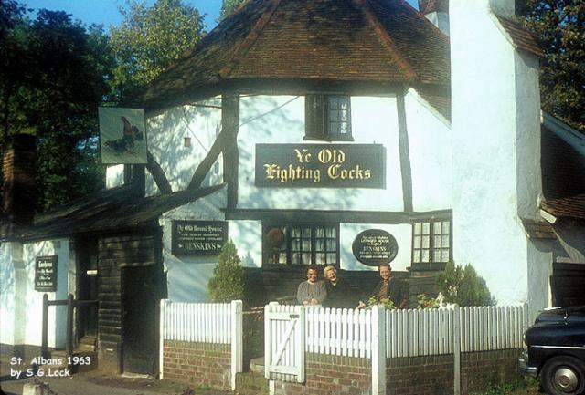 "St Albans, Hertfordshire (1963) - ""Ye Old Fighting Cocks"" inn"