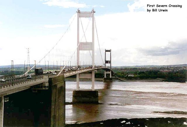 Bridge over the Severn links England and Wales
