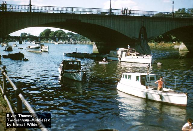 River Thames at Twickenham, Middlesex (photographed in the 1960s)