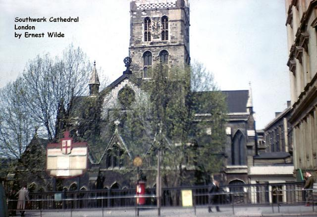 Southwark Cathedral, London (photographed in the 1960s)
