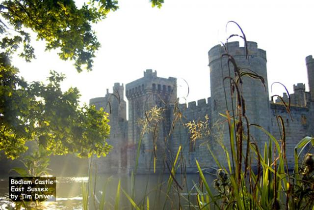 Bodiam Castle, East Sussex (built in the late 14th century)