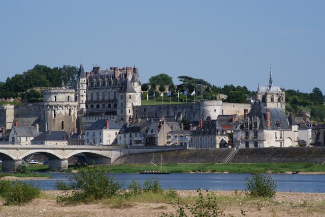 Amboise on the River Loire in the Region Centrale of France