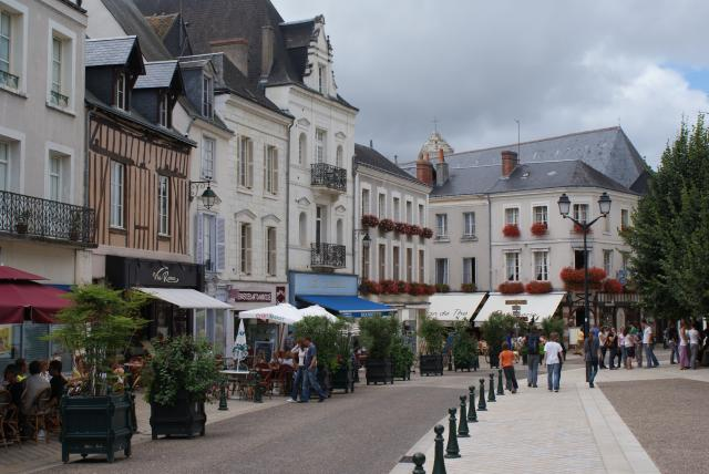 A street scene in Amboise, Loire Valley, France