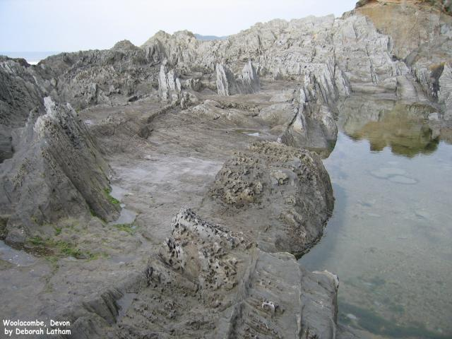 Rock pools, Woolacombe Beach, Devon