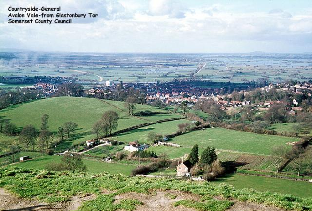Avalon Vale seen from Glastonbury Tor, Somerset