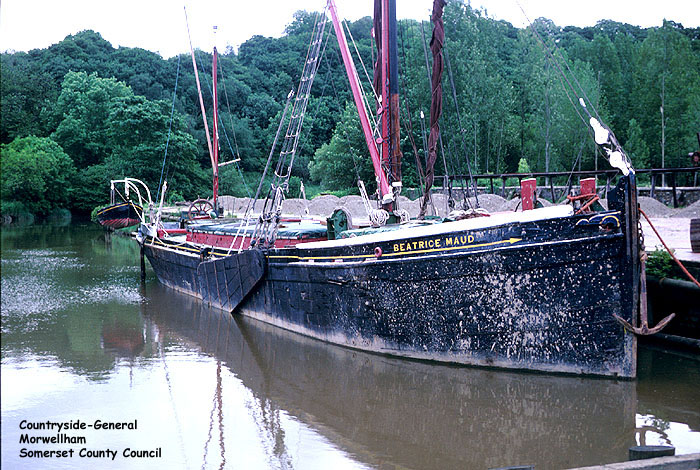 "The ""Beatrice Maud"" docked at Morwellham, River Tamar, near Tavistock, Devon.  Morwellham Quay is sited at the highest navigable point on the river and for over 1000 years was an important port for shipping silver, tin, copper and other minerals.  The current museum and visitor centre are ..."