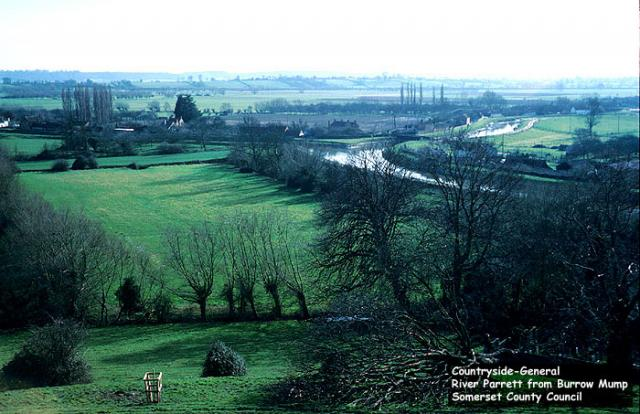 View of the River Parrett from Burrow Mump, Somerset.