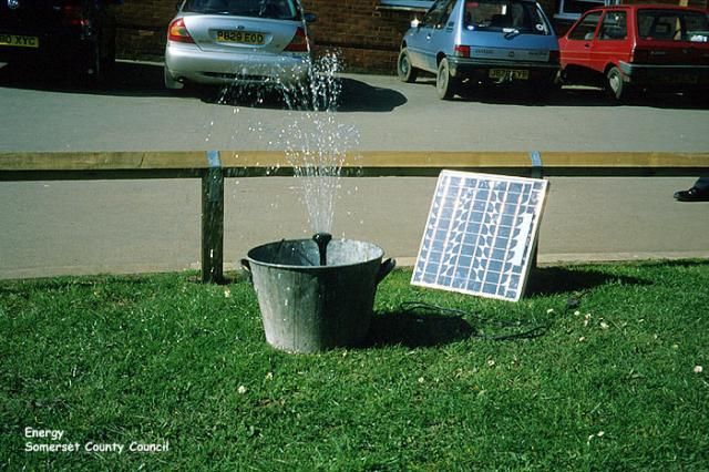 Solar-powered water fountain
