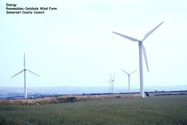 Delabole Wind Farm, Cornwall.  Delabole was the first commercial wind farm in Britain, beginning operation in 1991.