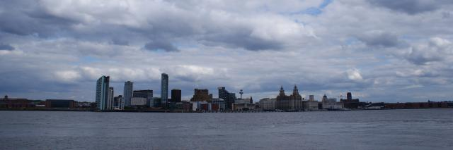 A view across the River Mersey of Liverpool's waterfront