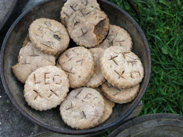 The Roman version of hartack biscuits, provided for soldiers on the march or at camp.