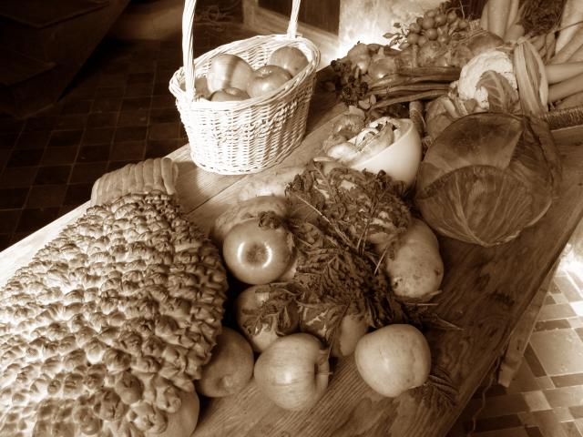 Photograph taken at a re-enactment of a Victorian Harvest Festival.